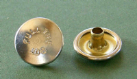 Pull the Dot Button - Nickel Plated Brass